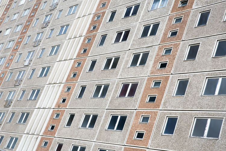 beste Platte // Abandoned Apartment Architecture Backgrounds Building City City Life Concrete East German Architecture Full Frame Grey Happy People Housing Modern Plattenbau Socialism Dreary