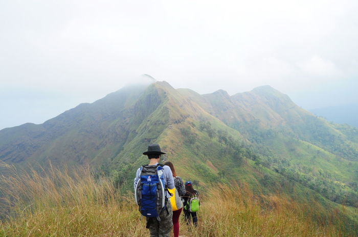 เขาช้างเผือก เขาที่จองยากมาๆ เราไปมาแล้ว Adventure Challenge Day Escapism Fog Foggy Geology Getting Away From It All Hiking Hill Landscape Mountain Mountain Range Non-urban Scene Outdoors Physical Geography Remote Tranquil Scene Valley