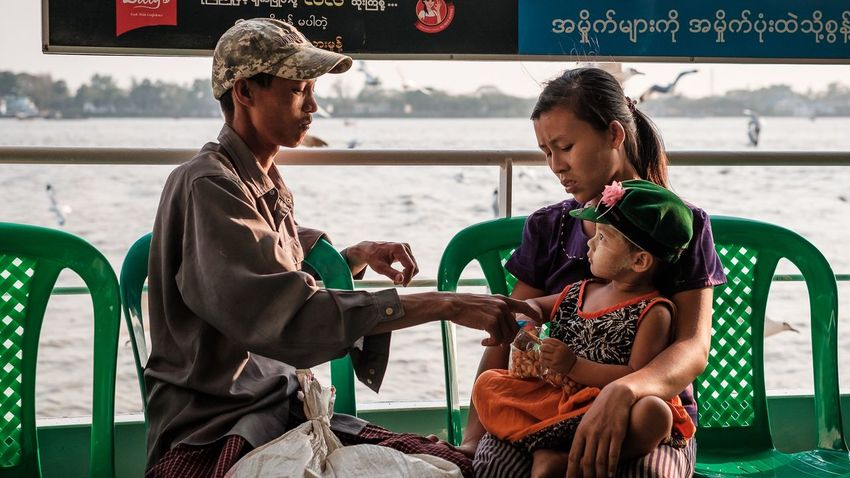 Using the ferry to cross the Yangon River to Dala Myanmar Yangon Streetphotography Documentary Storytelling Travel EyeEm Selects Togetherness People Real People Lifestyles