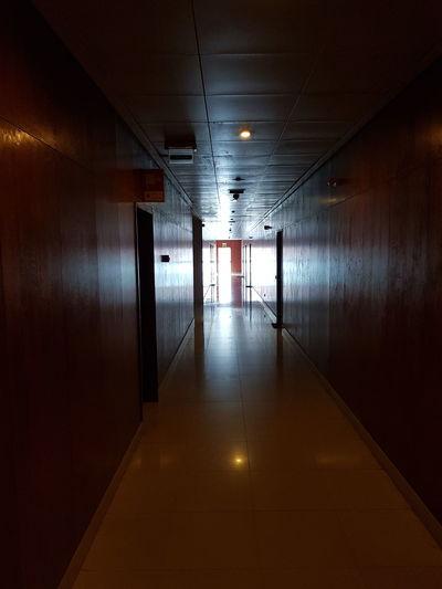 Illuminated Architecture Corridor Passage Hallway Passageway