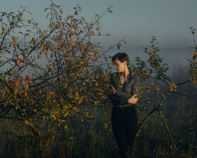 https://www.instagram.com/eglelaurinavice/ Far From The Madding Crowd Loneliness Morning Nature The Week on EyeEm Wild Apple Tree Woman Contemplation Fog Lifestyles Looking Looking Away Meadow No Face Outdoors Solitude Young Adult