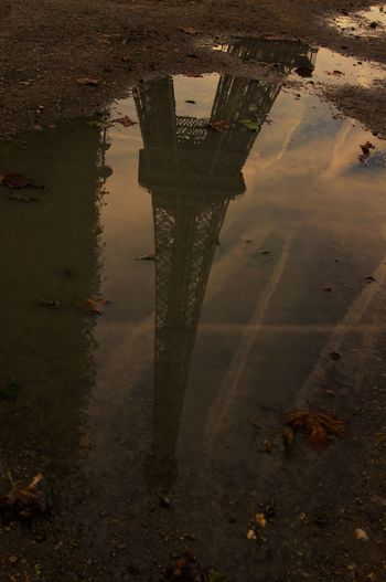 Architecture Built Structure Eifel Tower No People Outdoors Reflection Water