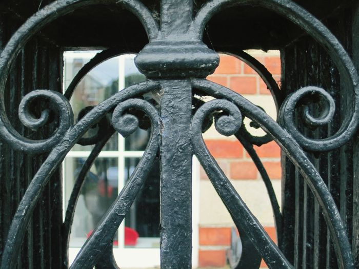 there is a lot of this ironwork around where I live... Architectural Feature Fences & Beyond In The Frame Black Iron Ironwork  Fences Lindsay's Little Manchester Metal Protection Close-up Safety Strength No People Backgrounds Outdoors Architecture