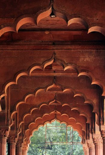 Red Fort architecture in Old Delhi, India Architecture Delhi India New Delhi Red Red Forte Area, New Delhi , India Arcade Arch Architecture Built Structure Day Fort Fortress History No People Old Delhi Red Fort Red Stone Sandstone Travel Destinations