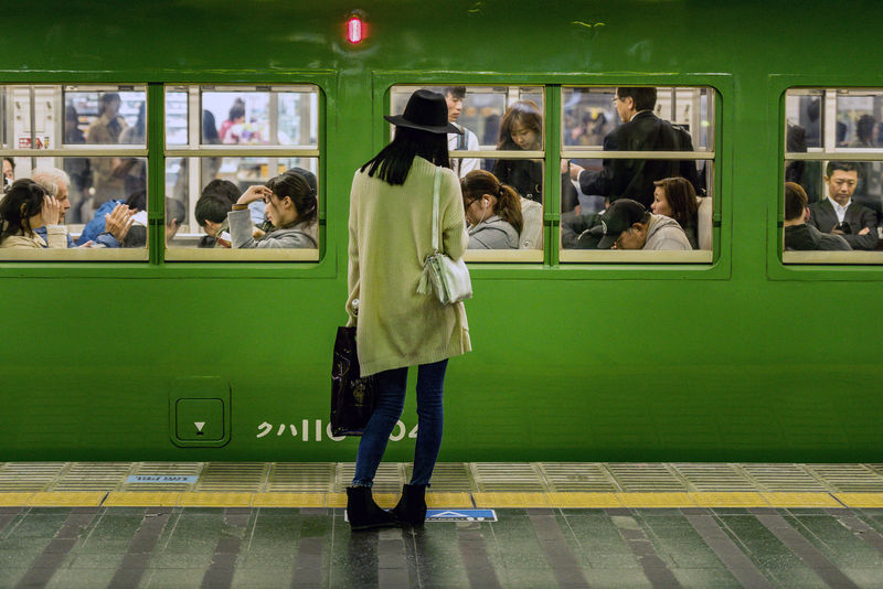 Tokyo underground - green train and girl waiting Casual Clothing Day Full Length Girl Indoors  Japan Large Group Of People Legs Lifestyles Men People People Watching Public Transportation Railroad Station Railroad Station Platform Real People Standing Strange Position Tokyo Tokyo Street Photography Transportation Underground Station  Undergroundphotography Women The Street Photographer - 2017 EyeEm Awards