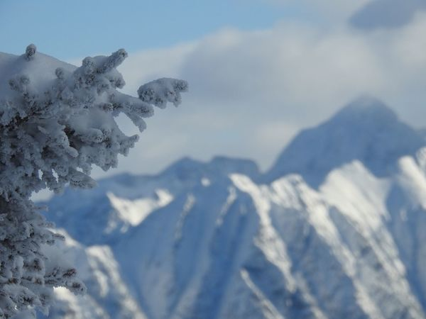 Beauty In Nature Cloud - Sky Cold Temperature Day Landscape Mountain Mountain Range Nature No People Outdoors Scenics Sky Snow Snowcapped Mountain Tranquil Scene Tranquility Weather Winter