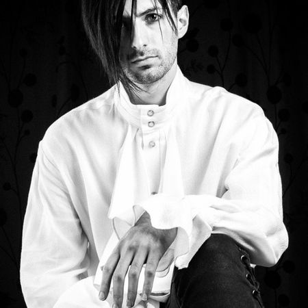 Portraitphotograph Fashion Three tiers of ruffles cascade down the front with matching frills at each cuff Louisxiv Shirt forbudt forbudtfashion lancashire horwich boltonphotographer fourtwographs manchester clothing stylishdress goth newromantic