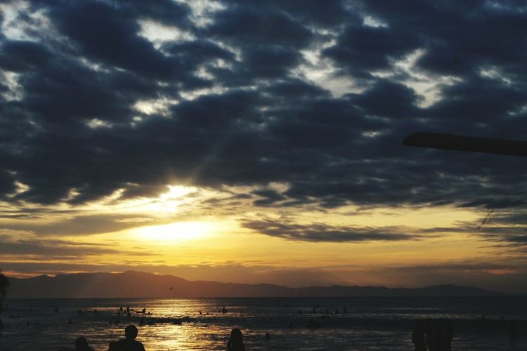 Beach Nature Sunset Outdoors Large Group Of People People Leisure Activity Horizon Over Water Wave Fun Beauty In Nature Nature Enjoyment Sea Clouds Night Dark Clouds Above Swimming Mix Yourself A Good Time