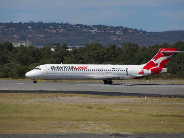 Qantas Boeing Aviationphotography Runway Plane Perthairport Clear Sky Aviation Airport Mode Of Transport EyeEm Airplane Air Vehicle Transportation Airport Runway Outdoors No People Sky Day Aircraft