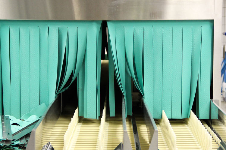 industrial dishwashing machine Art Is Everywhere Colours Industrial Industry Machine Machinery Technology I Can't Live Without Technology Everywhere Washing Work Working Architecture Built Structure Close-up Colour Of Life Curtain Curtains Day Green Color Indoors  Multi Colored No People Technology Turquoise