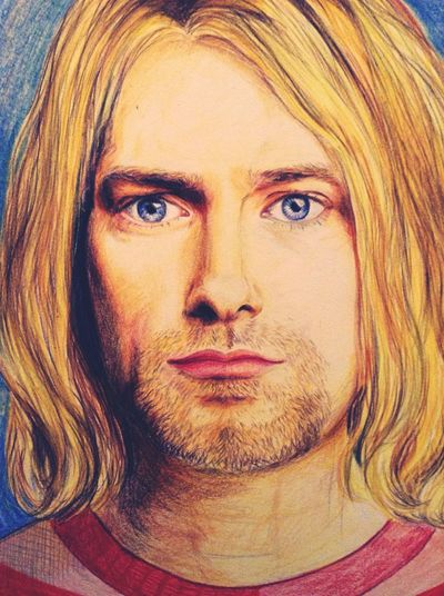 Art Color Portrait Kurt Donald Cobain Drawing
