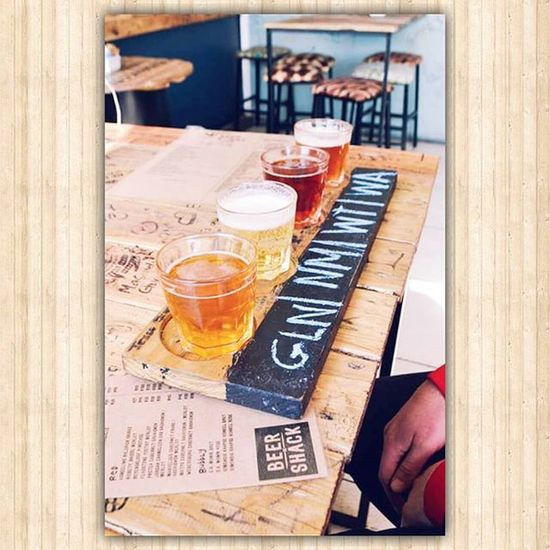The BeerShack in Portelizabeth , Southafrica . ♡ Beer AndMoreBeer Orange BeerSamples Ocean Sea Happytimes Ohhappydays Thingsilove ThirstKwenchers Thirstquencher Alcohol Beautiful Woodenbenches Yummy