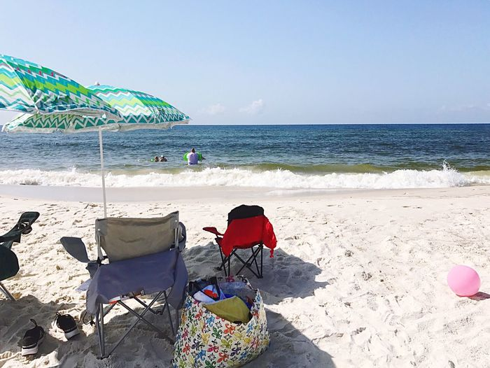Sommergefühle Beach Sea Sand Horizon Over Water Vacations Shore Leisure Activity Summer Water Relaxation Rear View Men Weekend Activities Scenics Nature Day Clear Sky Beauty In Nature Outdoors Sunlight Perdido Key Let's Go. Together. Lost In The Landscape Be. Ready. Perspectives On Nature Perspectives On People Summer Exploratorium