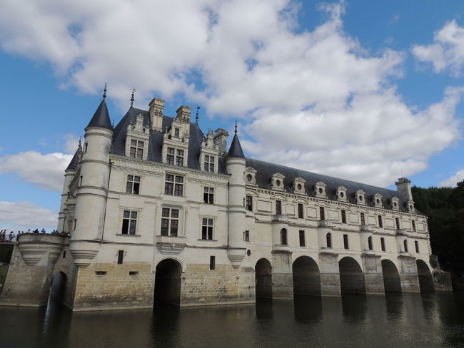 Chenonceau Chenonceaux Loire Loire Valley France Sky Built Structure Architecture Cloud - Sky Building Exterior Water History Nature The Past Day No People Waterfront Building Travel Destinations Arch Outdoors Low Angle View Reflection Old Gothic Style Arched