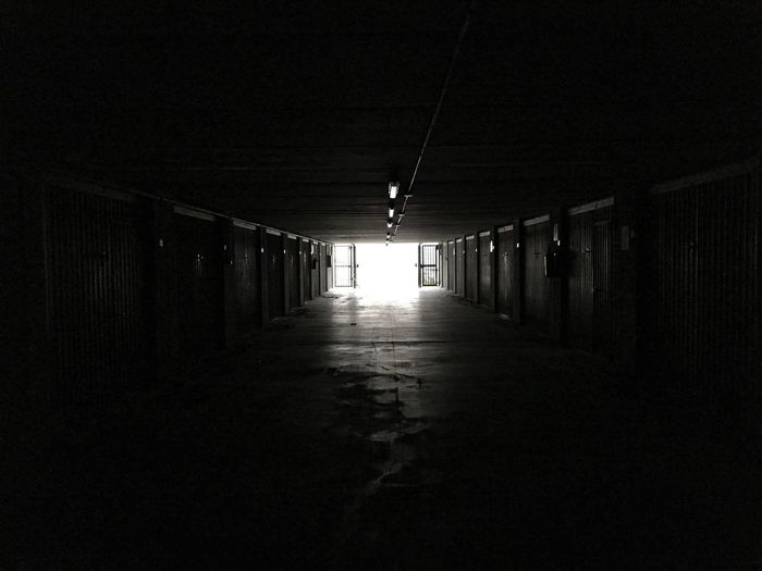Architecture Exploring Projection Vision Destination Way Of Life Light And Shadow Urban Geometry Desaturated Depression - Sadness Dystopian Garage Tunnel Vision Tunnel Light Trail Futuristic Future The Way Forward Illuminated Indoors  Built Structure Architecture Corridor No People Night