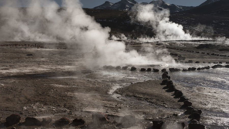 Tatio Geysir, National PArk in Atacama desert, Chile, Southamerica. Power In Nature Environment Landscape Scenics - Nature No People Nature Day Outdoors Geology Geological Landscape Geysir Geysir Atakama Atakama Desert Tatio Geysir Chile Southamerica #peru #vacation #tour #kissingstatue #oceanside #lima Hot Springs National Park Atacama San Pedro De Atacama Rocks Geology, Nature, Landscapes, Basalt, Rock, Column, Iceland, Travel, Volcanic, Shape, Coastline, Natural, Hexagon, Beach, Mountain, Formation, Pattern, Europe, Scenics, Cliff, Landmark, Destinations, Stone Travel Destinations Tourism Destination Travel Photography Morning Dew