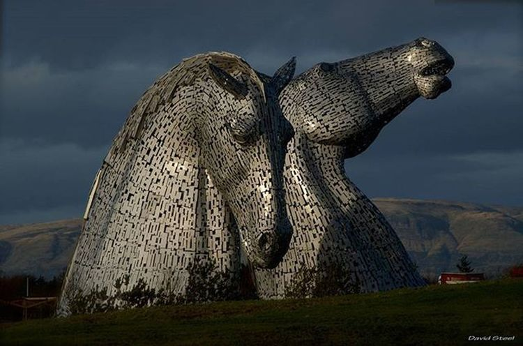 The Kelpies. ISO 200. f11 1/320 Ig_shutterbugs Igbest_shots Insta_Scotland Loves_Scotland Ig_shots_magic Master_shots Special_shots Ig_Scotland Ig_supershots Ig_captures Splendid_shotz Ig_bliss Britains_talent Kelpies  Helix Falkirk VisitScotland Nikond7000 Nikonphoto Nikon_photography_