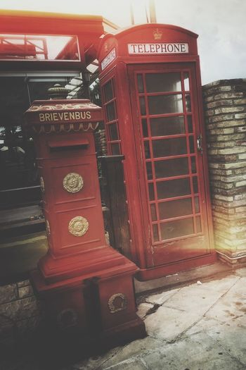 London scent in Athens, Greece | Red Telephone Booth Vintage Diagonal Mobile Photography IPhoneography Snapseed Snapseed Editing  Street Photography At The Street Urban Exploration Urban