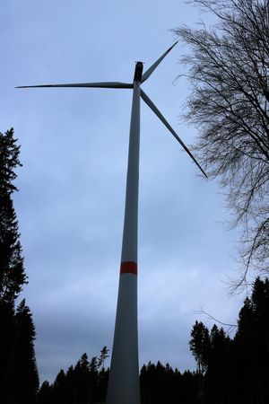 Cloudy Wind Energy Wind Turbine Wind Power Windmill Building Day Energy Energy Industry Low Angle View Nature No More Nature No People Outdoors Pin Wheel Sky Structure Tree Wind