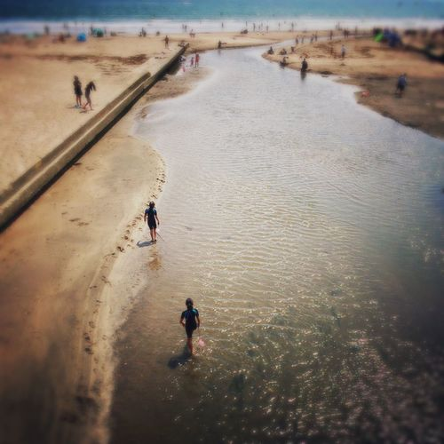 The Street Photographer - 2015 EyeEm Awards Streetphotography Beach Photography Estuary