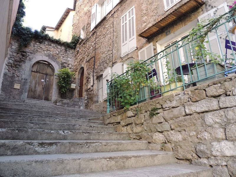 Arch Architecture Building Exterior Built Structure Day Door France Photos Historic History Low Angle View No People Outdoors Outside Plant Provence Sky Staircase Steps Steps And Staircase Stone Stone Material Stone Wall The Way Forward Weathered Window