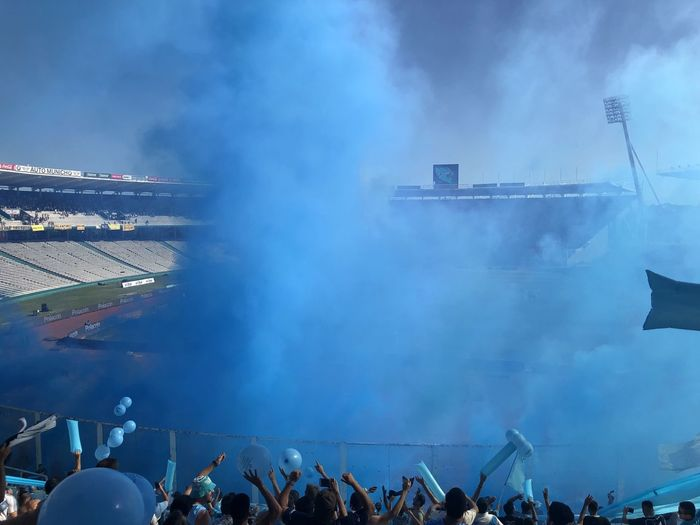 Cancha Group Of People Real People Crowd Smoke - Physical Structure Large Group Of People Architecture Building Exterior