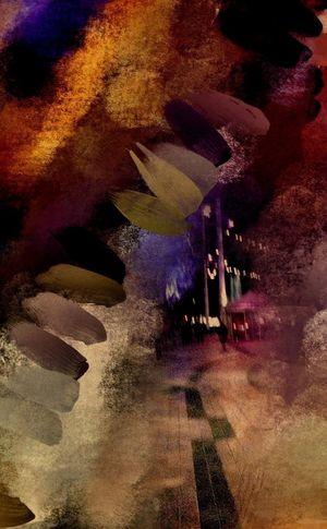 Night Walker NEM Painterly Urban Landscape Mobfiction