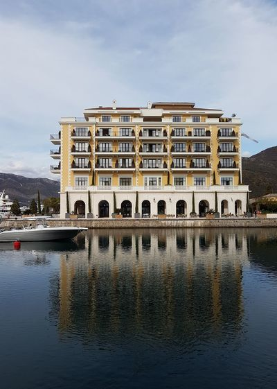 Tivat, Montenegro Sea Porto Montenegro Hotel Regent Façade Architecture Building Exterior Reflection In The Water Beautiful Place Harbor The Architect - 2018 EyeEm Awards