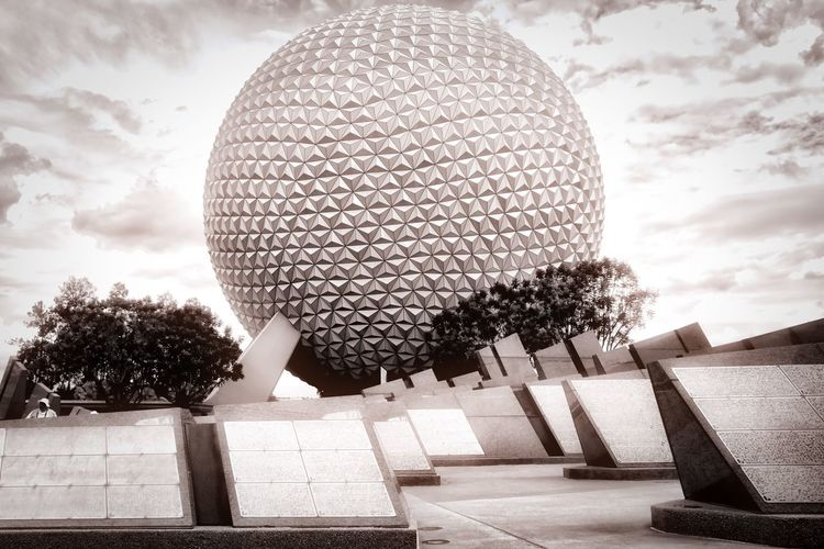 """Spaceship Earth"" Florida Disney Fujifilm Fujifilm X70 Monochrome Fujifilm_xseries Epcot"