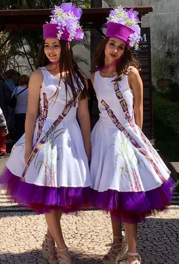 Beautiful dresses, Madeira Flower Festival Smiling Girls Beauty Traditional Festival Premium Collection Selected For Premium Madeira Flower Festival 2018 Funchal Madeira Madeira Smiling Young Women Happiness Young Adult Women Two People Adult Celebration Clothing Arts Culture And Entertainment Fashion Togetherness EyeEmNewHere