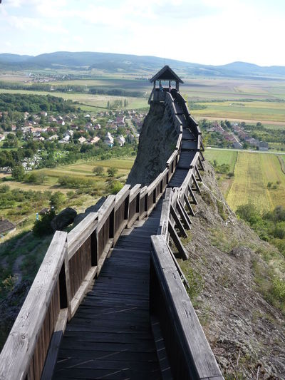 Bastion Boldogkőváralja Built Structure Castle Composition Connection Destination Diminishing Perspective Fence Footbridge Forest Getting Away From It All Leading Narrow Outdoors Perspective Railing The Way Forward Tower Wood Wood - Material Wooden Zemplen Landscapes With WhiteWall