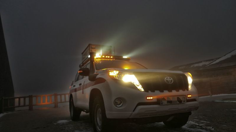 Bioluminescence Night Nightphotography Winter Snow Mountain Light Lights Ambulance Car Cars Emergency First Responders Emt Medical Night Lights Night View Car Illuminated No People Outdoors Sky