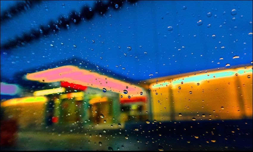 Water Drops #71 Architecture Colors Macro O'Tool Building, Re-modled Rain Water Drops #71 - 12/1/15 Water, Rain On Taxi Window