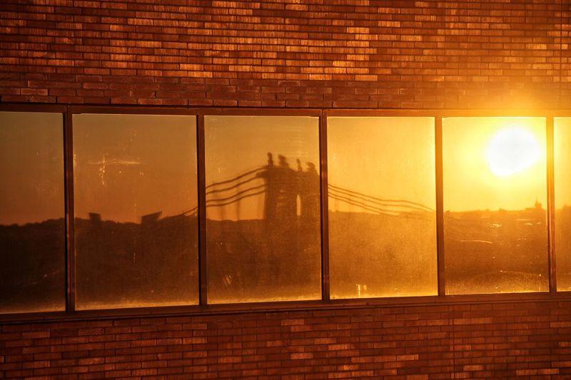 Sunset Orange Color Sky Sun No People New York City Brooklyn Bridge  Financial District  Downtown Reflection Sunrise 29th