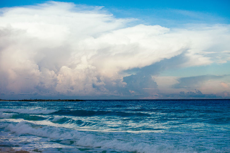 Beauty In Nature Calm Cloud Cloud - Sky Cloudscape Cloudy Day Dramatic Sky Horizon Over Water Majestic Nature Non-urban Scene Ocean Outdoors Rippled Scenics Sea Seascape Sky Tranquil Scene Tranquility Water Water Surface Waterfront Wave