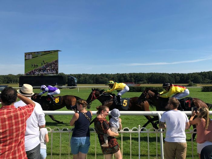 Crowd Group Of People Hoppegarten Horse Race Large Group Of People Leisure Activity Real People Spectator