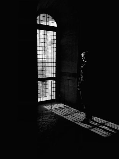 Inside Out BW💫 Black & White Black And White Pisa Tower Pisa Light Light And Shadow Old Buildings Old House Big Window Silhouette Window Architecture Indoors  Entrance Sunlight Built Structure Door No People Nature Closed Open Security Safety Building Day Shadow Dark Domestic Room