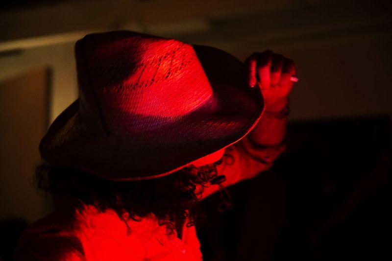 Colors Red Red Color Portrait Portrait Of A Woman Woman Hat Hand Nikon Nikonphotography Light Night Nightphotography Lifestyles Human Hand Red Close-up My Best Photo Exploring Fun