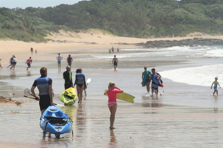 Beach Beauty In Nature Day Full Length KwaZulu-Natal Coast Large Group Of People Leisure Activity Lifestyles Nature Outdoors Real People Sand Sea Vacations Water