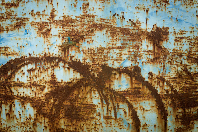 Abstract Architecture Backgrounds Bad Condition Blue Damaged Dirt Dirty Full Frame Messy Metal No People Obsolete Old Outdoors Pattern Run-down Rusty Stained Textured  Textured Effect Weathered