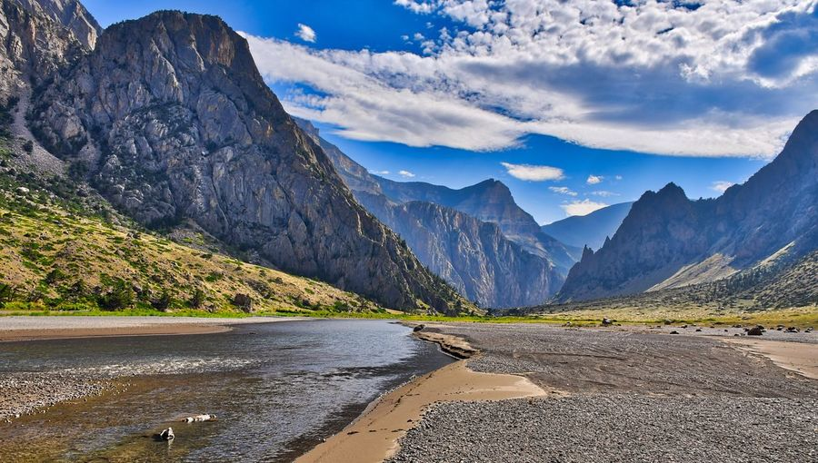 Morris Jeep Trail Montana Off Road Camping Fly Fishing Mountain Range Beautiful Nature Photography Mountain Beauty In Nature Scenics - Nature Water River Landscape Tranquility Sky Environment Mountain Peak Idyllic Tranquil Scene Cloud - Sky