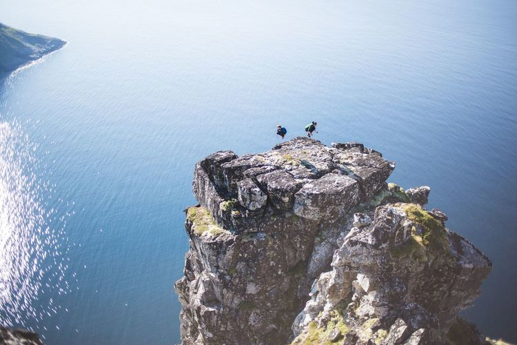 Cliffs Ocean Jump Selfie ✌ Lofoten Adrenaline Junkie Adventure Climbing ... I saw this spot and had to climb up on it .... together with my Brother The Great Outdoors - 2016 EyeEm Awards