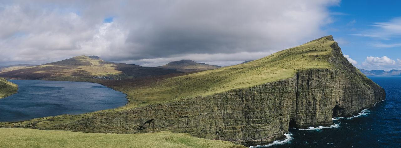 Archipelago Atlantic Atlantic Ocean Grass Hiking Nature Road Abandoned Absence Adventure Cliff Faroe Faroe Islands Fauna Fjord Flora Ocean Sea Sheep Waterfall