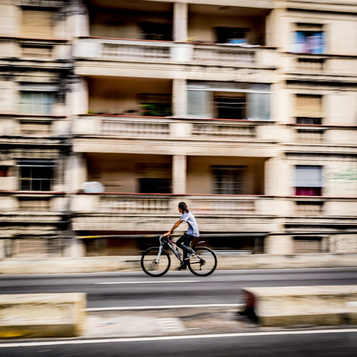 Bike Panning Bicycle Bike Brasil Brazil Building Exterior City Cycling Day Men Minhocão One Man Only Panning Panningphotography Sampa SAMPAcity South America Speed São Paulo