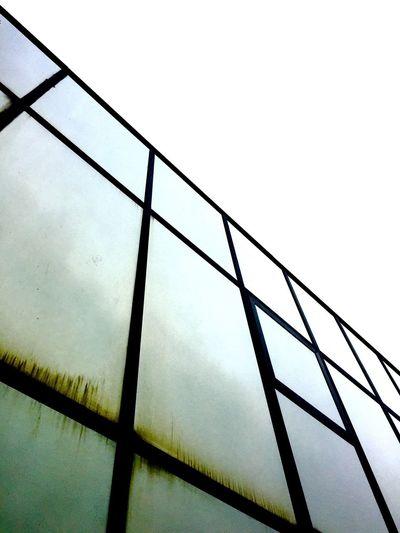 Building Glass Mirrors Angle Silver  Tint Sky Metal Concrete Los Angeles, California Metal Trim
