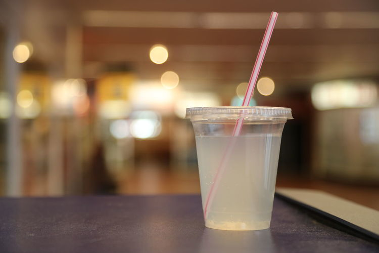 Close-up of drink on table