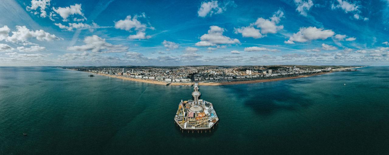 Brighton pier fron above