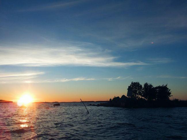 Ocean view Waves Sunset Finnish Summer Taking Photos Enjoying Life On The Ocean Landscape_photography Photography Nature Summernight