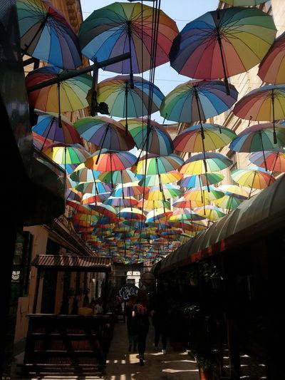 raze Umbrellas Colors Light And Shadow Beautiful Relax Travel