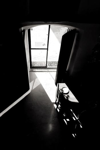 Sun Shine Settles in Door Masia Vineyard Sun Sun Shine Let The Sun Shine In! Sun Light Dinning Room Table Plate Blackandwhite Black And White Black & White Black&white Blackandwhite Photography EyeEm Best Shots - Black + White Light And Shadow Chair My Best Photo 2015 Learn & Shoot: After Dark Interior Views